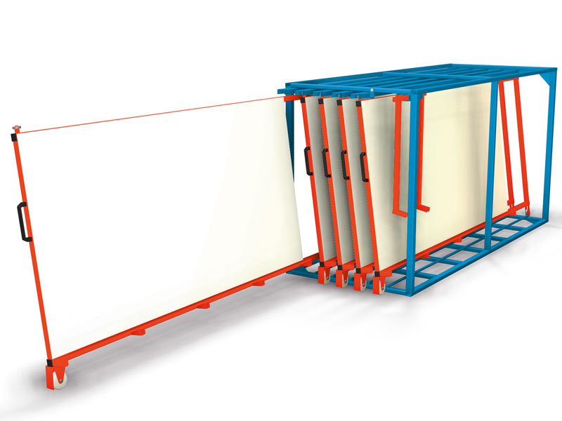 Flat Pallet Rack Vertical Full Access To Panels